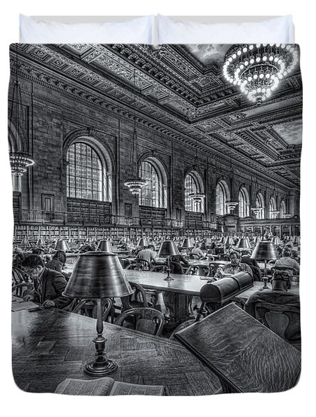New York Public Library Main Reading Room Vi Duvet Cover by Clarence Holmes