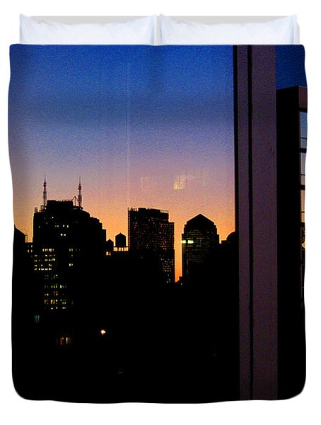 New York Reflections Duvet Cover