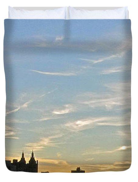 New York Sunset 2 Duvet Cover by Randi Shenkman