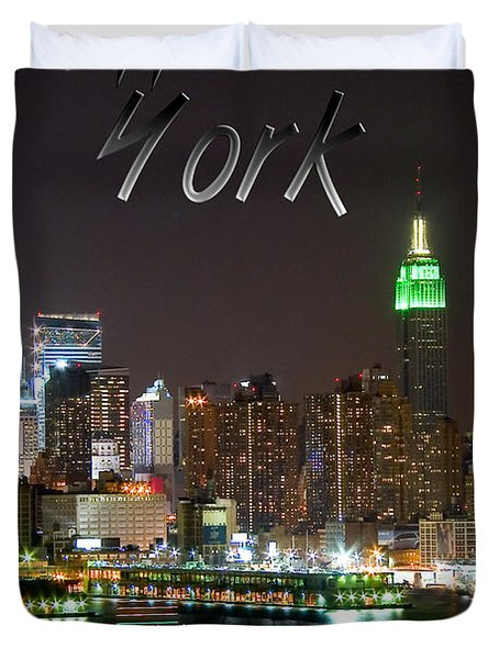 New York Duvet Cover by Syed Aqueel