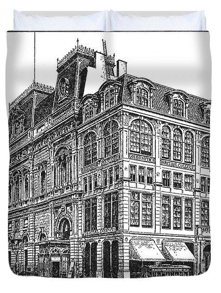 New York: Theater, 1869 Duvet Cover