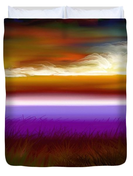 Night Falls Duvet Cover by Greg Moores
