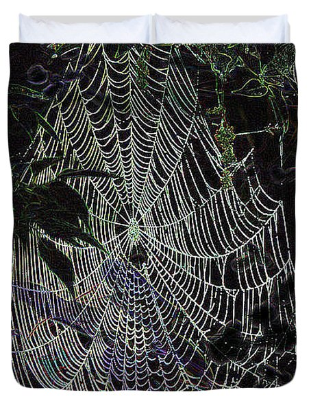 Night Lines Duvet Cover by EricaMaxine  Price