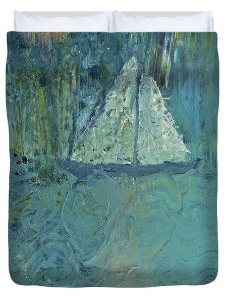 Night Sail Duvet Cover by Wayne Potrafka