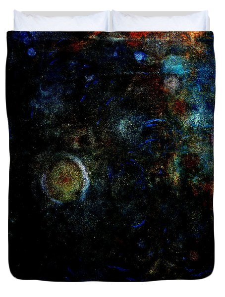 Duvet Cover featuring the painting Night Watch  by Tom Roderick