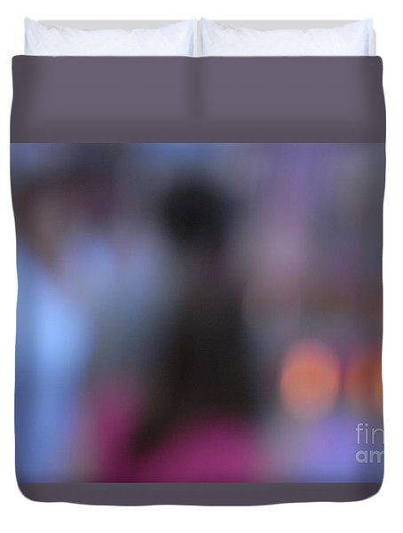 Duvet Cover featuring the photograph Imagine Nightfall At The Funfair by Andy Prendy