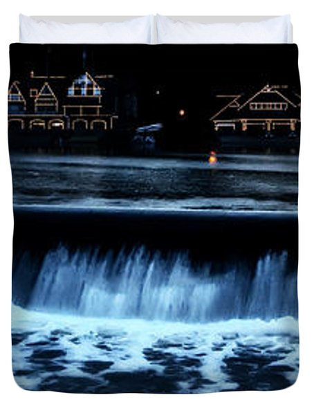 Nighttime At Boathouse Row Duvet Cover by Bill Cannon