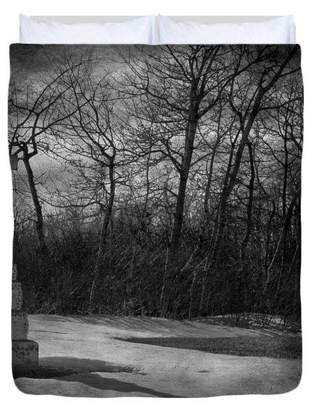 Nine O Clock Shine  Duvet Cover by Empty Wall