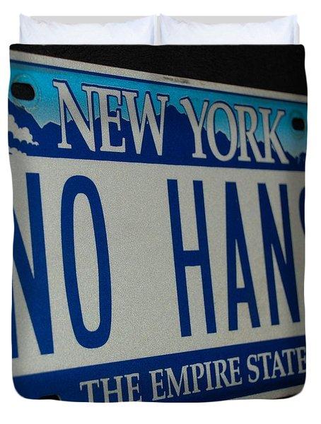 No Hans Duvet Cover by Rob Hans
