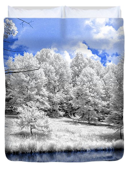 Nobob Pond Ir Duvet Cover by Amber Flowers