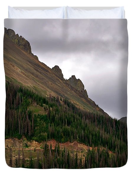 Nokhu Crags Colorado Duvet Cover by Michael Kirsh