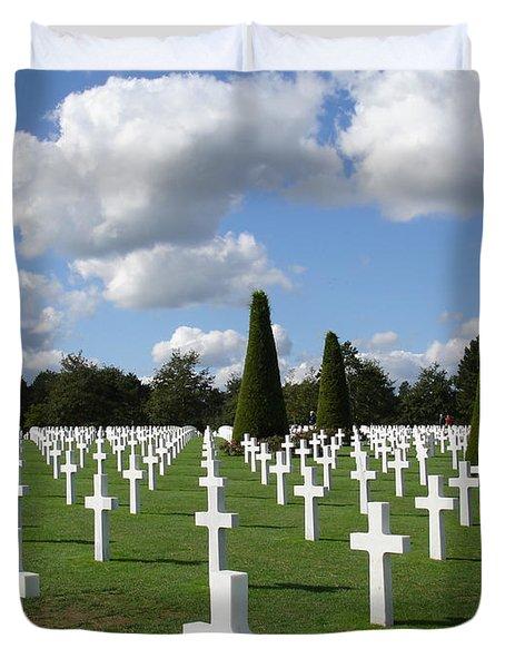 Normandy American Cemetery Duvet Cover by Carol Groenen