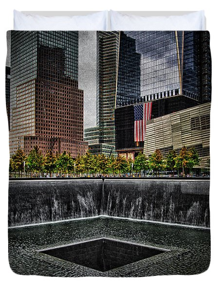 North Tower Memorial Duvet Cover by Chris Lord