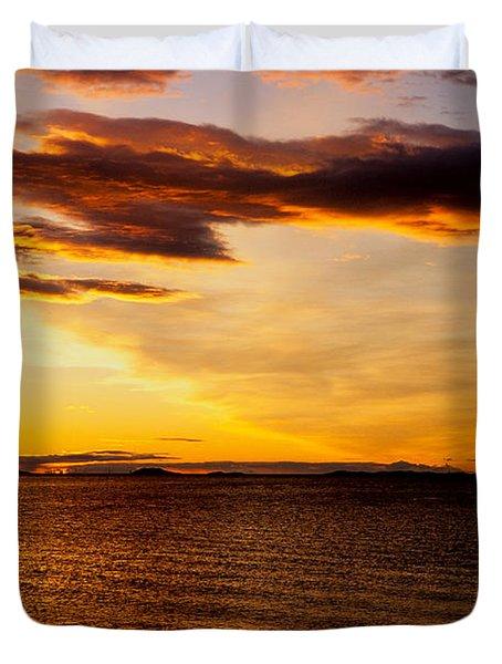Northern Sunset Duvet Cover by Hakon Soreide