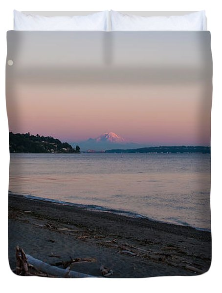 Northwest Evening Duvet Cover by Mike Reid