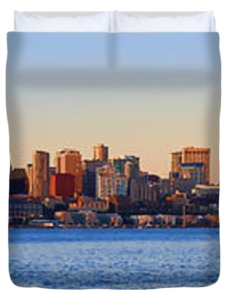 Northwest Jewel - Seattle Skyline Cityscape Duvet Cover