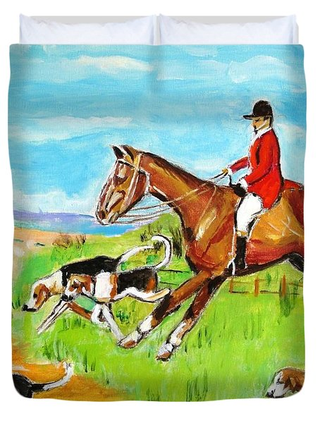 Nose To Nose Duvet Cover by Judy Kay