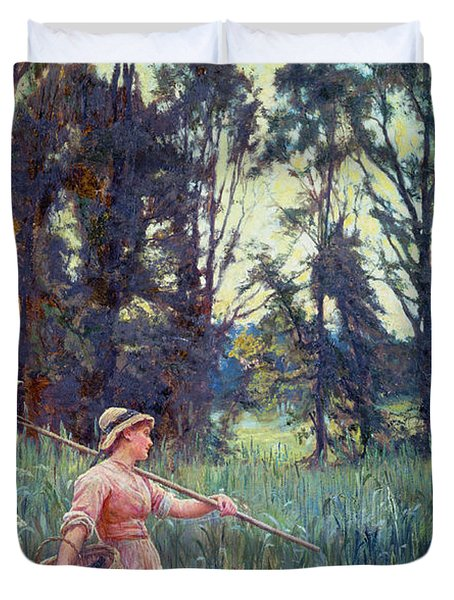 Not Far To Go Duvet Cover by Frederick Morgan