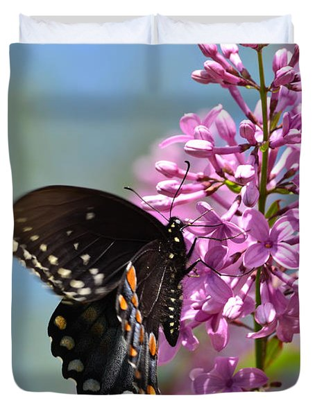 Nothing Says Spring Like Butterflies And Lilacs Duvet Cover