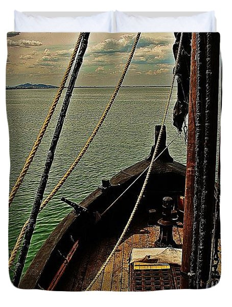 Notorious The Pirate Ship 6 Duvet Cover