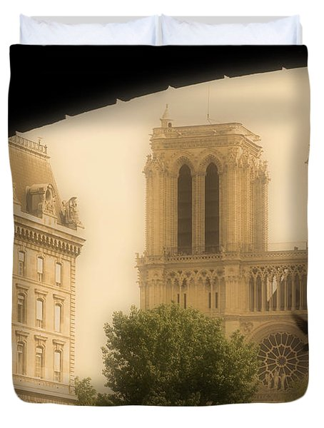 Notre Dame Cathedral Viewed Duvet Cover by John Sylvester