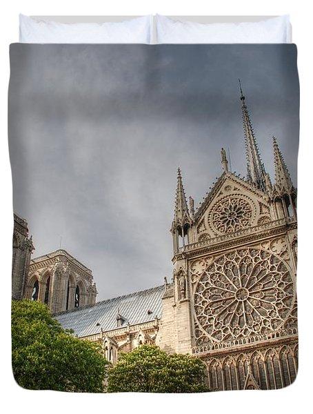 Duvet Cover featuring the photograph Notre Dame De Paris by Jennifer Ancker
