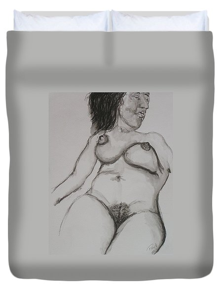 Nude At Rest Duvet Cover by Rand Swift