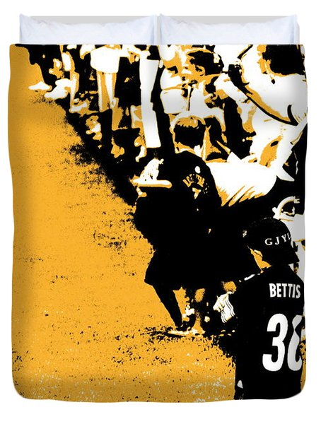 Number 1 Bettis Fan - Black And Gold Duvet Cover
