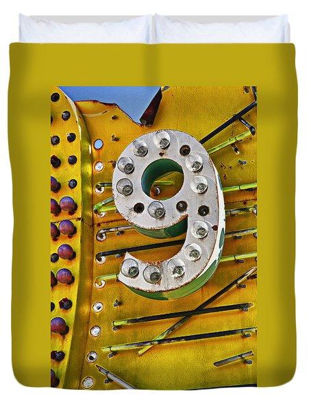 Number Nine Duvet Cover by Garry Gay