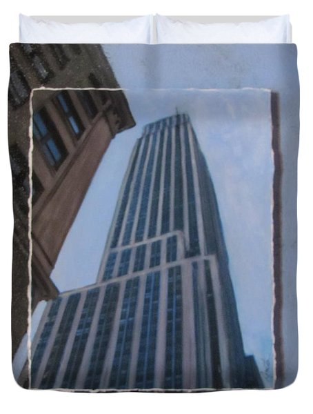 Nyc Severe Empire Layered Duvet Cover by Anita Burgermeister