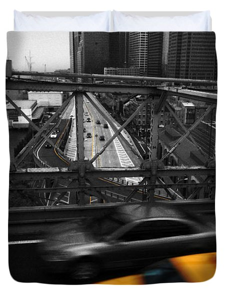 Nyc Yellow Cab Duvet Cover by Hannes Cmarits