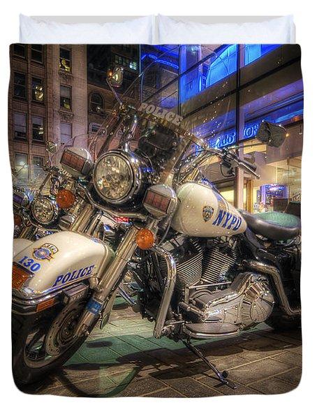 Nypd Bikes Duvet Cover