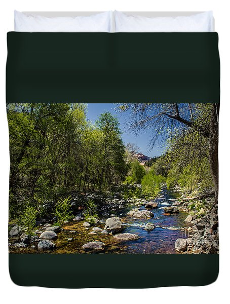 Oak Creek Duvet Cover by Robert Bales