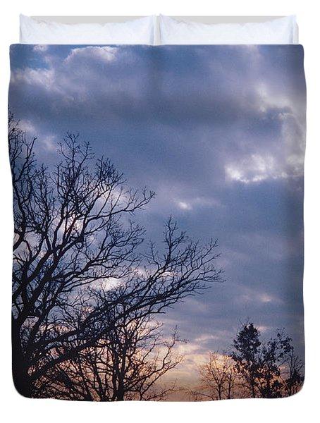 Oak In Sunset Duvet Cover