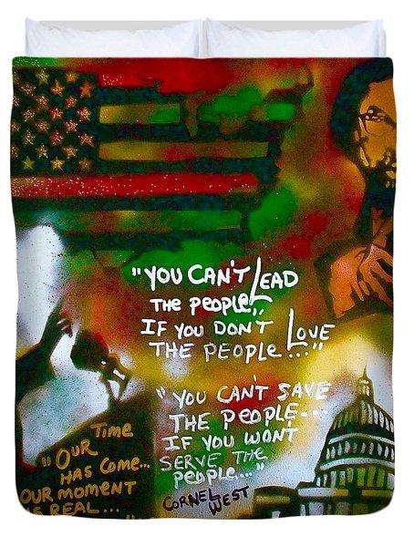 Obama Vs. Cornel Duvet Cover by Tony B Conscious