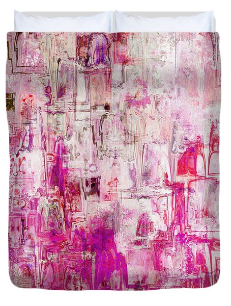 Oblong Abstract I Duvet Cover by Debbie Portwood
