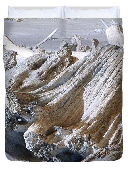 Ocean Driftwood Landscape Art Prints Coastal Views Duvet Cover by Baslee Troutman