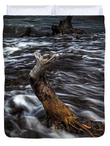 Ocean Flow Duvet Cover by Nick  Shirghio