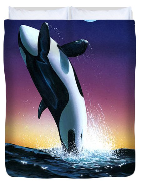 Ocean Leap Duvet Cover by MGL Studio - Chris Hiett