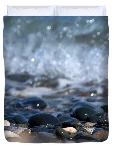 Ocean Stones Duvet Cover by Stelios Kleanthous