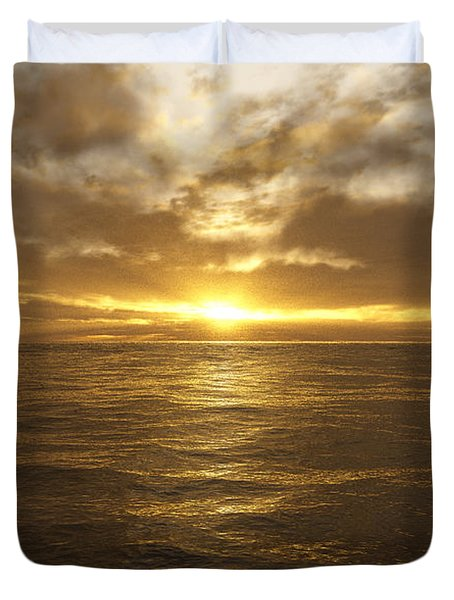 Ocean Sunset Duvet Cover by Mark Greenberg