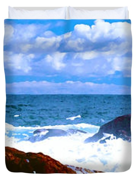 Ocean Surf Duvet Cover by Phill Petrovic