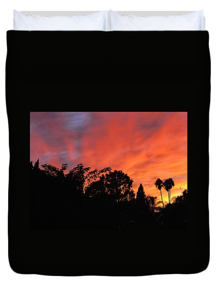October Sunset 10 Duvet Cover
