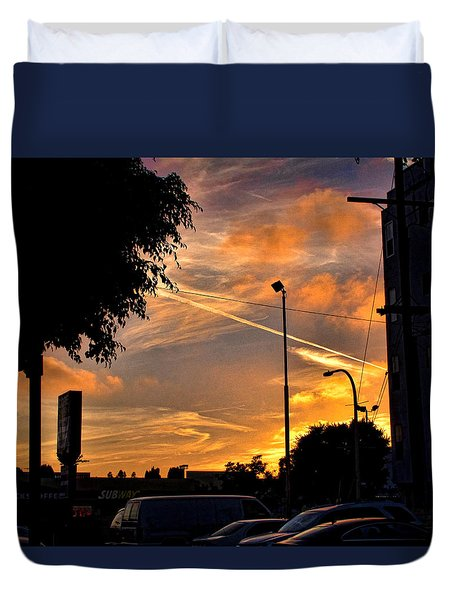 October Sunset 6 Duvet Cover