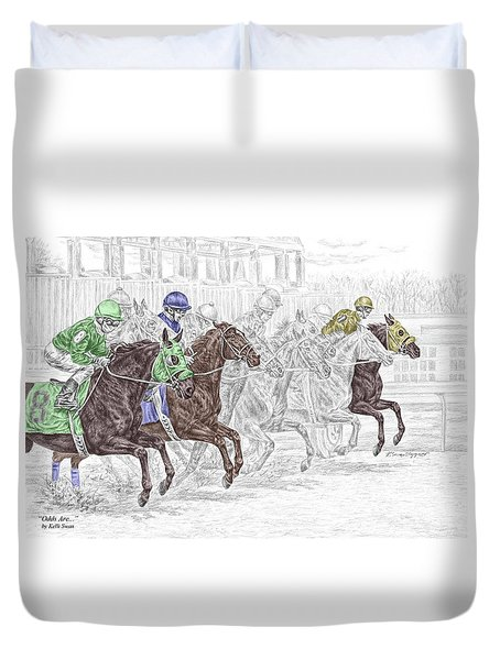Odds Are - Tb Horse Racing Print Color Tinted Duvet Cover