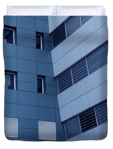 Office Building Duvet Cover by Carlos Caetano