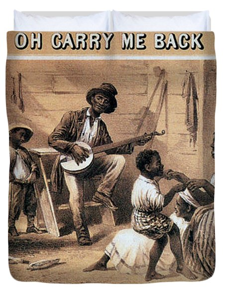 Oh Carry Me Back To Ole Virginny, 1859 Duvet Cover by Photo Researchers