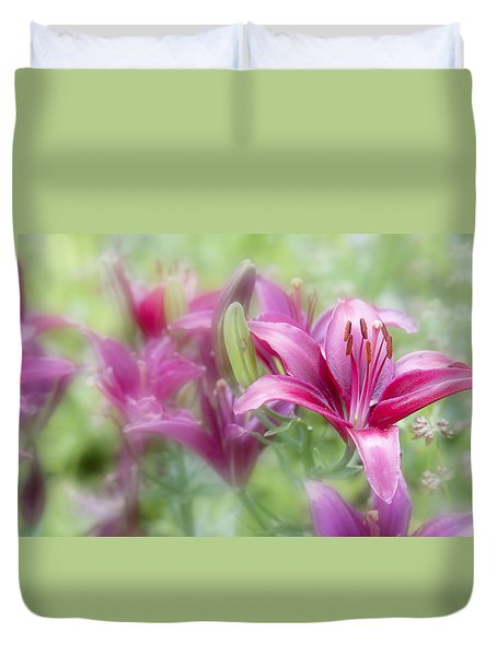 Oh So Pink Duvet Cover by Toni Hopper