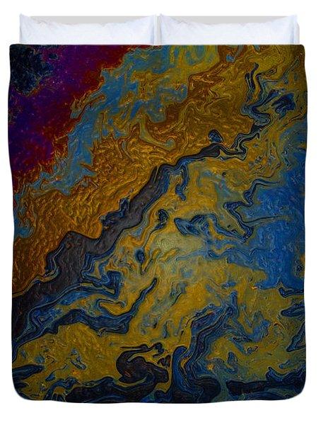 Oil On Pavement True Colors Duvet Cover