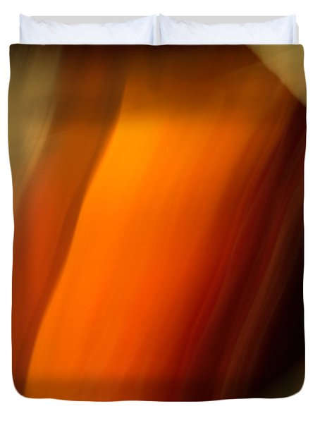 Duvet Cover featuring the mixed media O'keefe I by Terence Morrissey